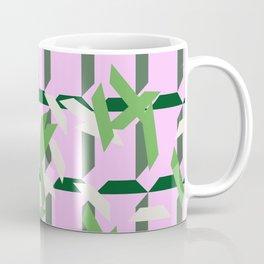 trapezoids grid pattern_lavender Coffee Mug