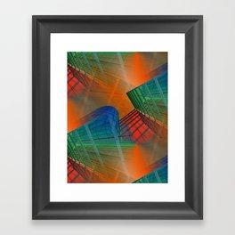 city pattern -3- Framed Art Print