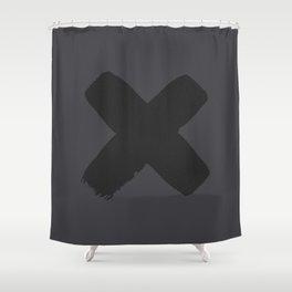 A Black X Shower Curtain