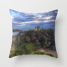 World Famous Dunnottar Castle Stonehaven Scotland Europe Ultra HD Throw Pillow
