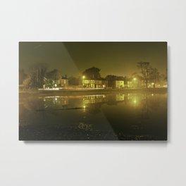 Pond at Night Metal Print