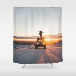 A Landy in the Landscape of Iceland Shower Curtain