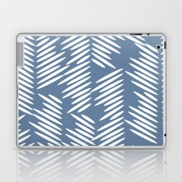 Leaves abstract in blue Laptop & iPad Skin
