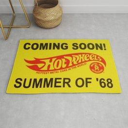 Vintage 1968 Redline 'Coming Soon - Hot Wheels Summer of '68 Dealer Sign Rug