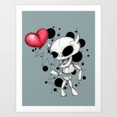 Broken Balloon Art Print