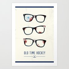 Slapshot - Old Time Hockey Art Print