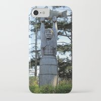 iron maiden iPhone & iPod Cases featuring Maiden by Donna Creamore