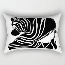 Zzzzing Zebra Rectangular Pillow
