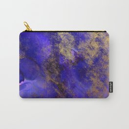 Modern Royal Blue and Gold Abstract Carry-All Pouch