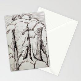 Male Back Sketch Stationery Cards