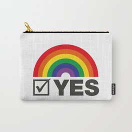 Vote Yes! - Rainbow Tick Carry-All Pouch