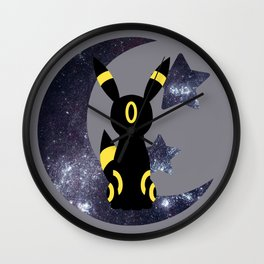 Minimal Umbreon Wall Clock