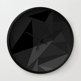 FRAGMENTS DARK Wall Clock