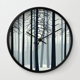 Nordic Forest Wall Clock