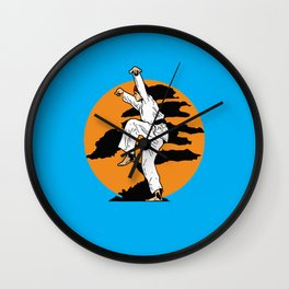 Karate kid art Wall Clock