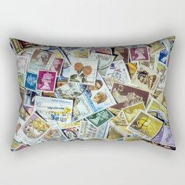 Postage Stamp Collection Rectangular Pillow
