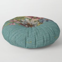 floral needlepoint Floor Pillow