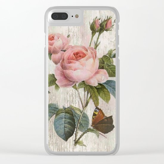 Roses Nostalgie Clear iPhone Case