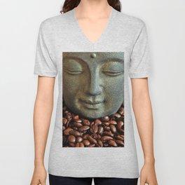 Coffee Buddha 3 Unisex V-Neck