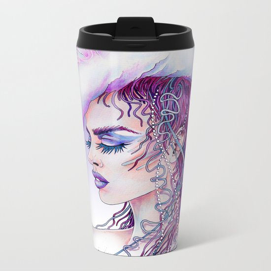 Portuguese War Woman Metal Travel Mug