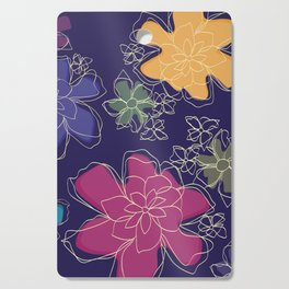 Floral - #Bright #Flowers #Abstract #Pattern Cutting Board