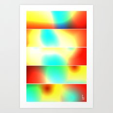 Color Heat (Five Panels Series) Art Print