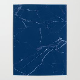 royal marine blue marble look Poster