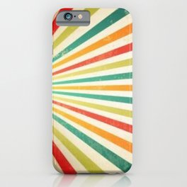 Retro rainbow stripes colors colours gift ideas  iPhone Case