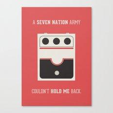 White Striped Canvas Print