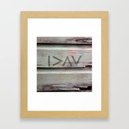 I>ΛV Framed Art Print