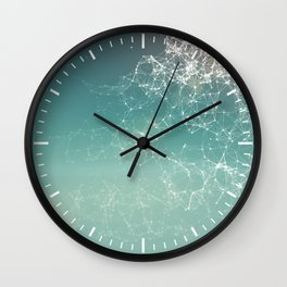 Fresh summer abstract background. Connecting dots, lens flare Wall Clock