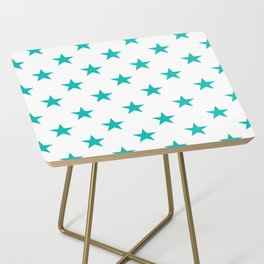 Stars (Eggshell Blue/White) Side Table
