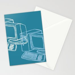 Blue Computer Stationery Cards