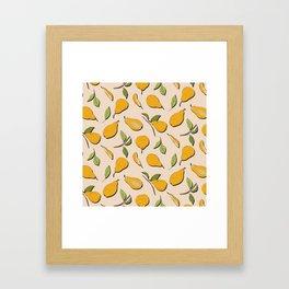 Pear fabrics Framed Art Print