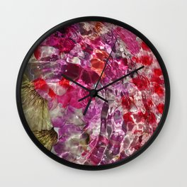 Rippled petals Wall Clock