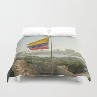flag Duvet Covers featuring Flag by miloezger