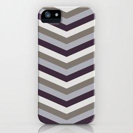SAMMAL design - dark chocolate mint coffee zig-zag iPhone Case