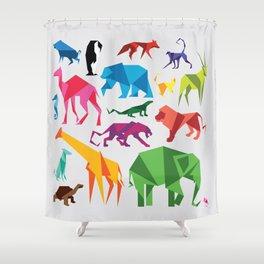 Paper Animals Shower Curtain