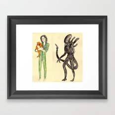 \ALIEN/ Framed Art Print