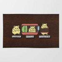 hamster Area & Throw Rugs featuring hamster by tavislea