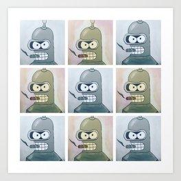 Bender Pattern Art Print