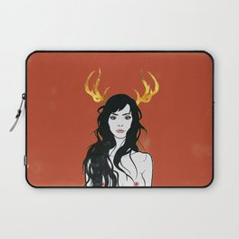 Golden Antlers Laptop Sleeve