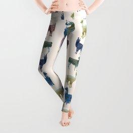 Color LLamas Leggings
