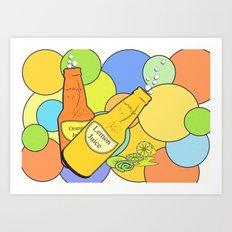 Lemon juice color Art Print