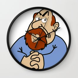 Self-caricature Wall Clock