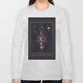 La Maison Dieu or The Tower Tarot Long Sleeve T-shirt