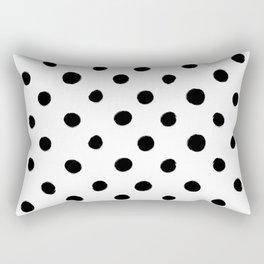 Modern Handpainted Abstract Polka Dot Pattern Rectangular Pillow