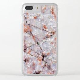 Quartz in granite Clear iPhone Case