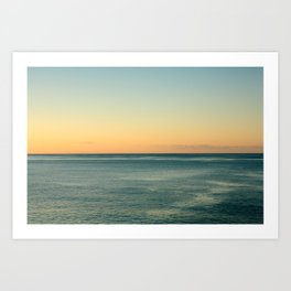 Sunrise and serene ocean Art Print