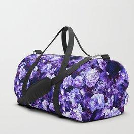 winter flowers seamless pattern 01 small purple Duffle Bag